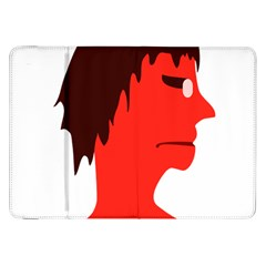 Monster with Men Head Illustration Samsung Galaxy Tab 8.9  P7300 Flip Case