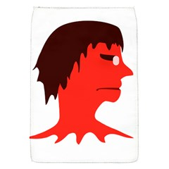 Monster With Men Head Illustration Removable Flap Cover (small)