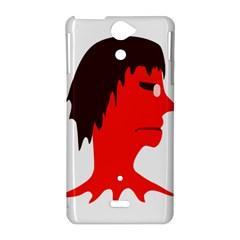 Monster with Men Head Illustration Sony Xperia V Hardshell Case