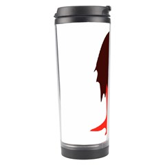 Monster with Men Head Illustration Travel Tumbler