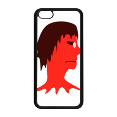 Monster With Men Head Illustration Apple Iphone 5c Seamless Case (black)