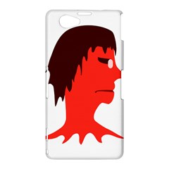 Monster with Men Head Illustration Sony Xperia Z1 Compact Hardshell Case