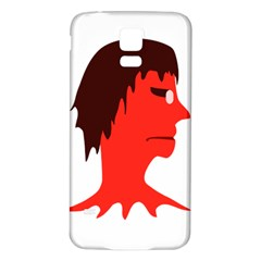 Monster with Men Head Illustration Samsung Galaxy S5 Back Case (White)