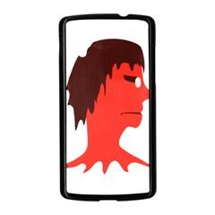 Monster with Men Head Illustration Google Nexus 5 Case (Black)