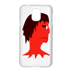Monster with Men Head Illustration Samsung Galaxy S5 Case (White)
