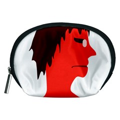 Monster with Men Head Illustration Accessory Pouch (Medium)