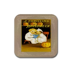 A Thrilling Halloween Drink Coaster (Square)