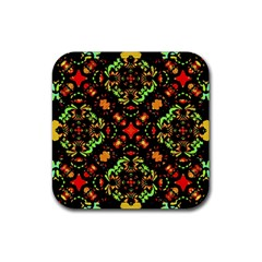 Intense Floral Refined Art Print Drink Coasters 4 Pack (Square)