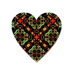 Intense Floral Refined Art Print Magnet (Heart)