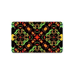Intense Floral Refined Art Print Magnet (name Card)