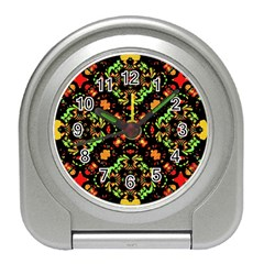 Intense Floral Refined Art Print Desk Alarm Clock