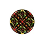 Intense Floral Refined Art Print Golf Ball Marker 10 Pack (for Hat Clip) Front