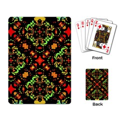 Intense Floral Refined Art Print Playing Cards Single Design