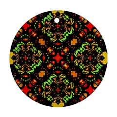 Intense Floral Refined Art Print Round Ornament (two Sides)