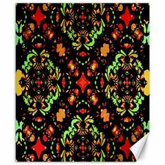 Intense Floral Refined Art Print Canvas 8  X 10  (unframed)
