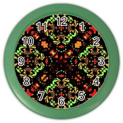 Intense Floral Refined Art Print Wall Clock (Color)