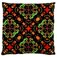 Intense Floral Refined Art Print Large Cushion Case (single Sided)