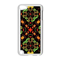 Intense Floral Refined Art Print Apple iPod Touch 5 Case (White)