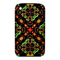 Intense Floral Refined Art Print Apple iPhone 3G/3GS Hardshell Case (PC+Silicone)
