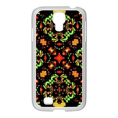 Intense Floral Refined Art Print Samsung GALAXY S4 I9500/ I9505 Case (White)