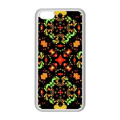 Intense Floral Refined Art Print Apple iPhone 5C Seamless Case (White)