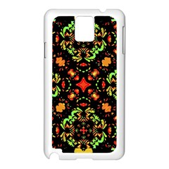 Intense Floral Refined Art Print Samsung Galaxy Note 3 N9005 Case (White)
