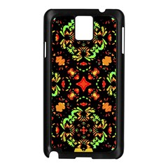 Intense Floral Refined Art Print Samsung Galaxy Note 3 N9005 Case (black)