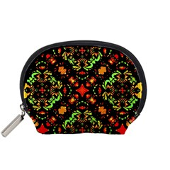 Intense Floral Refined Art Print Accessory Pouch (small)