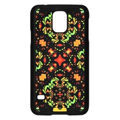 Intense Floral Refined Art Print Samsung Galaxy S5 Case (Black)