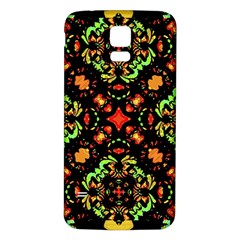 Intense Floral Refined Art Print Samsung Galaxy S5 Back Case (White)