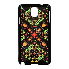 Intense Floral Refined Art Print Samsung Galaxy Note 3 Neo Hardshell Case (Black)