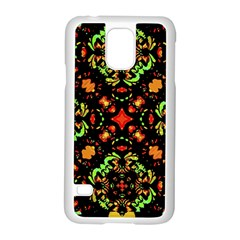 Intense Floral Refined Art Print Samsung Galaxy S5 Case (white)