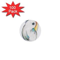 Gray Bird 1  Mini Button (100 Pack)