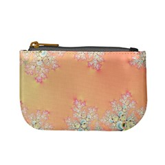 Peach Spring Frost On Flowers Fractal Coin Change Purse