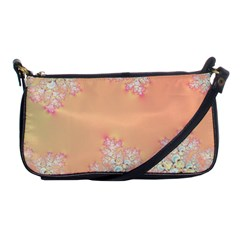 Peach Spring Frost On Flowers Fractal Evening Bag