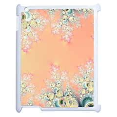 Peach Spring Frost On Flowers Fractal Apple Ipad 2 Case (white)
