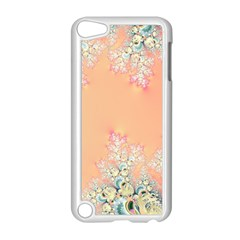 Peach Spring Frost On Flowers Fractal Apple Ipod Touch 5 Case (white)