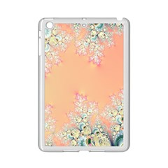 Peach Spring Frost On Flowers Fractal Apple iPad Mini 2 Case (White)