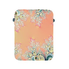 Peach Spring Frost On Flowers Fractal Apple Ipad Protective Sleeve