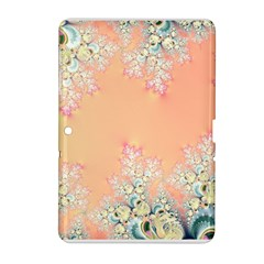 Peach Spring Frost On Flowers Fractal Samsung Galaxy Tab 2 (10.1 ) P5100 Hardshell Case