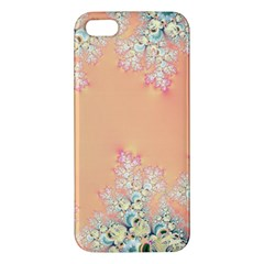 Peach Spring Frost On Flowers Fractal iPhone 5S Premium Hardshell Case