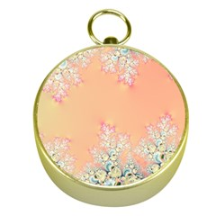 Peach Spring Frost On Flowers Fractal Gold Compass