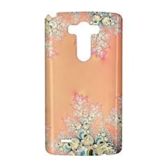 Peach Spring Frost On Flowers Fractal LG G3 Hardshell Case
