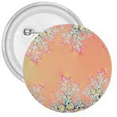Peach Spring Frost On Flowers Fractal 3  Button