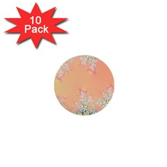 Peach Spring Frost On Flowers Fractal 1  Mini Button (10 pack)
