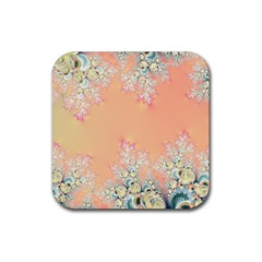 Peach Spring Frost On Flowers Fractal Drink Coasters 4 Pack (square)