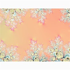 Peach Spring Frost On Flowers Fractal Canvas 12  x 16  (Unframed)