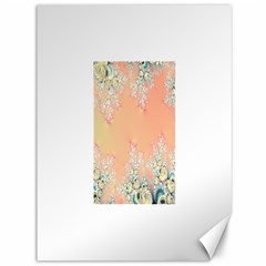 Peach Spring Frost On Flowers Fractal Canvas 36  x 48  (Unframed)