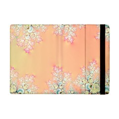 Peach Spring Frost On Flowers Fractal Apple Ipad Mini Flip Case