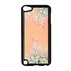 Peach Spring Frost On Flowers Fractal Apple iPod Touch 5 Case (Black)
